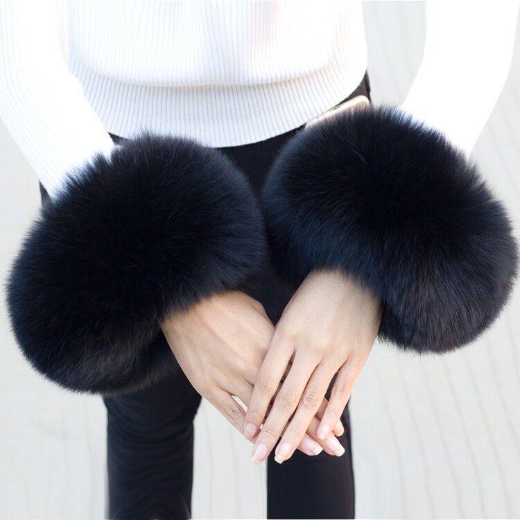 Genuine Fur Hand Wrist Warmer Fur Cuffs One Pair Free Shipping Multifunction