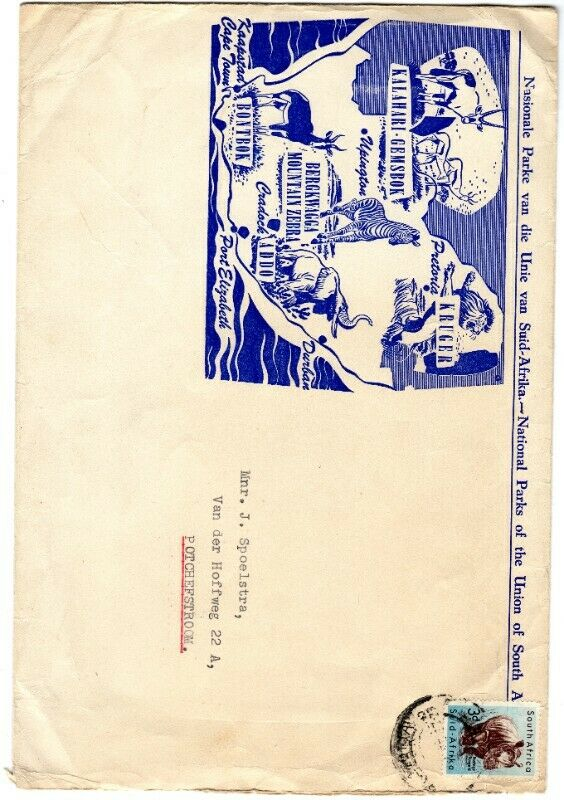 Commemorative Stamp & Envelope Set - National Parks of the Union of South Africa 1957