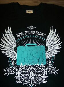 NEW-FOUND-GLORY-Suitcase-Angel-Wings-T-Shirt-XL-NEW-Coming-Home-PUNK-BAND