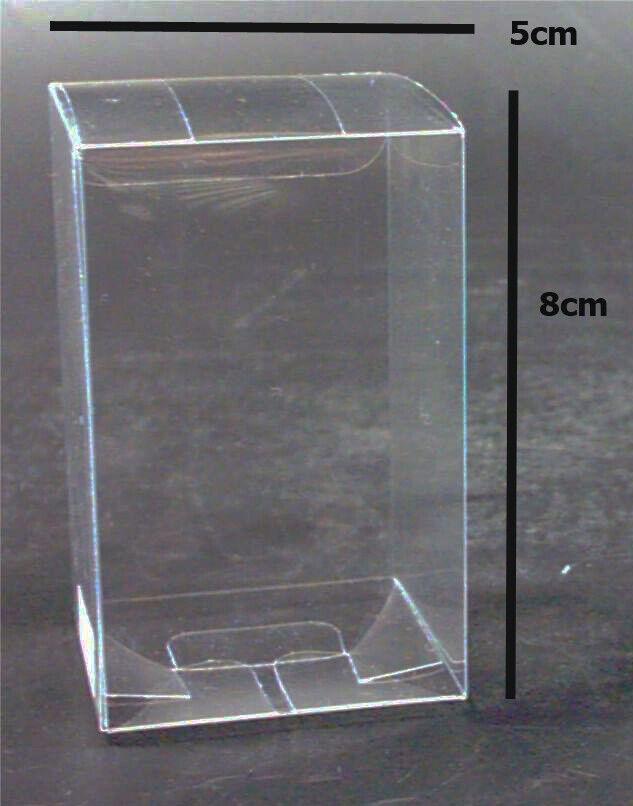 150 bomboniere favor clear pvc 5x5x8cm box wedding product gift shot glass BULK