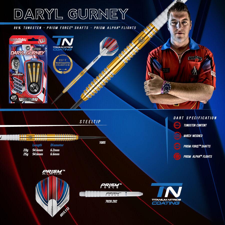 WINMAU Steel Darts gr. Dartpfeile Pfeile Player Daryl Gurney Super Chin 25 gr. Darts 1005 eb4fa7