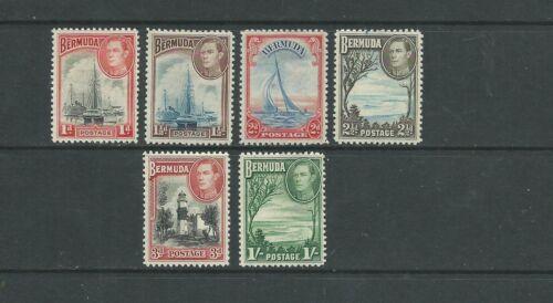 Bermuda 1938-52 1d to 1/- SG110-15 fine mtd mint, Cat.£84.