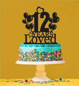 Image Is Loading 12th Birthday Loved Cake Topper 12 Years Old