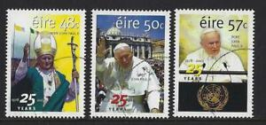 IRELAND-2003-POPE-JOHN-PAUL-25-YEARS-SET-OF-3-FINE-USED