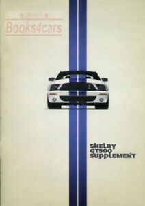 shelby mustang  owners manual ford gt owners book