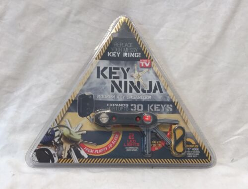 NEW Key Ninja Modern Key Organizer  Ring Reinvented LED lights As Seen on TV New