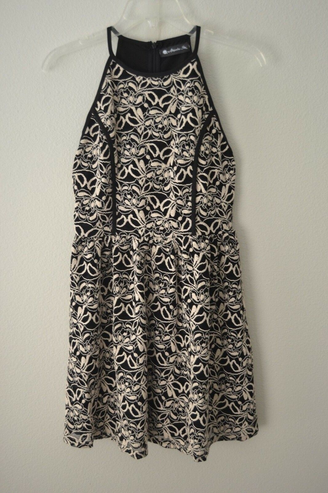 Alejandra Sky damen April Sleeveless Dress schwarz Ivory Dress Sz M