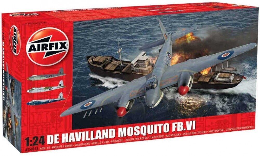 Haville Mosquito Fb.vi Airfix  1 24 Kit modellolino A25001a Fast Ship Giappone  l'ultimo