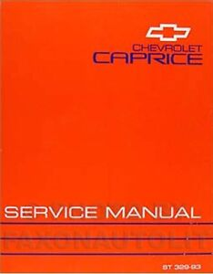 1993 chevy caprice classic repair shop manual 93 ebay rh ebay co uk 1993 Impala Wagon 1993 Chevrolet