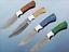 "Cow sheath 9.5/"" long Damascus steel skinning knife full tang rain drop blade"