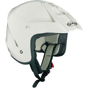 Spada-Edge-Solid-White-Trials-Helmet-ATV-Quad-Open-Face-Motorcross-MX-Off-Road