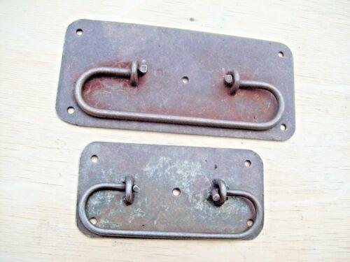 Hand Forgé Antique Fonte Poitrine Coffre Coffer armoire tiroir Tirez Rustique Poignées