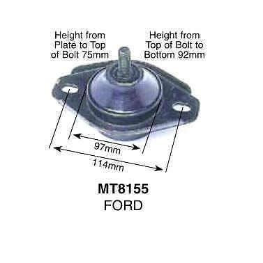 Ford Falcon Fairlane 8/1989-12/2002 3.9L 4.0L 5.0L Rear Gearbox Mount MT8155