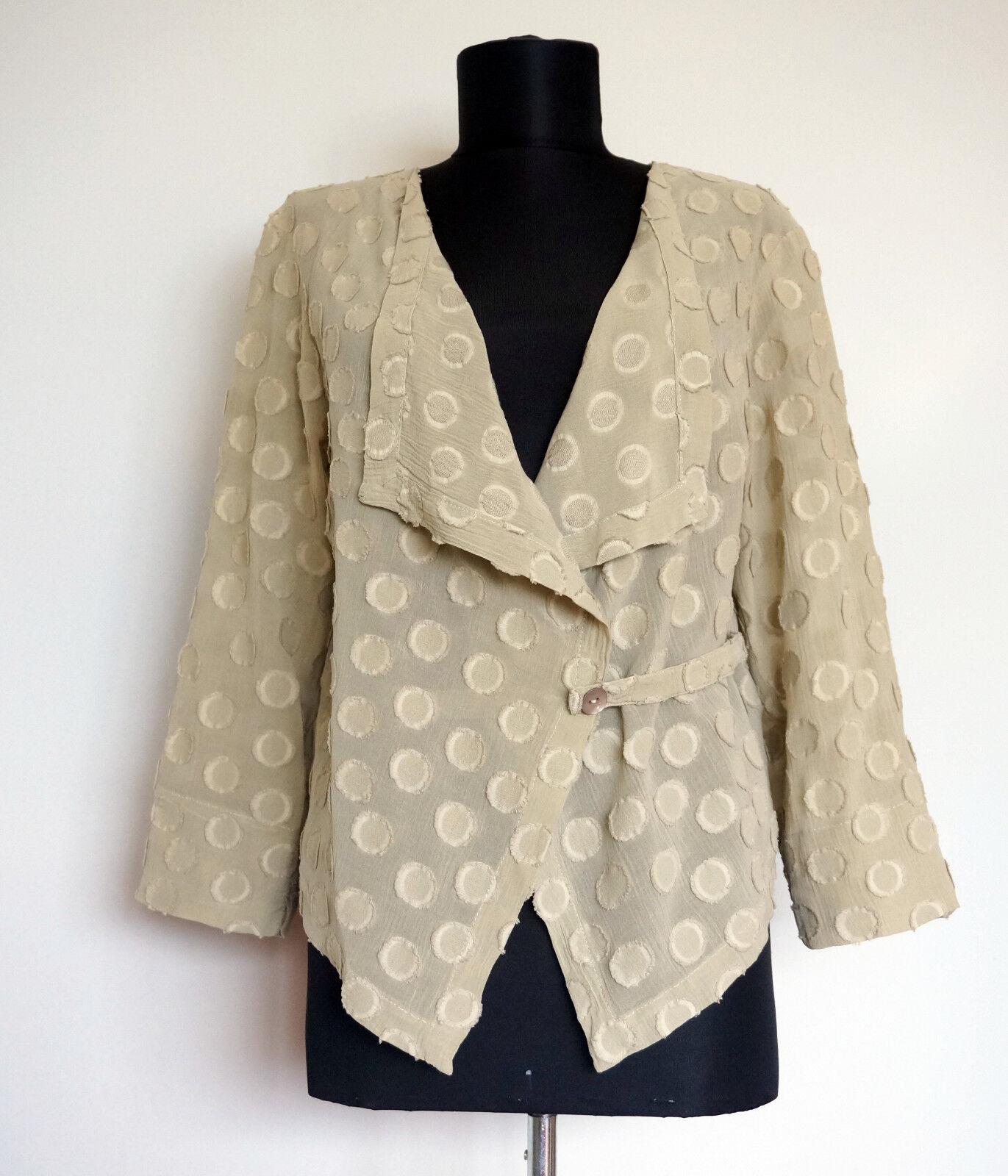 Oska Summer stone Cotton Silk Wrap Cardigan, Size 1