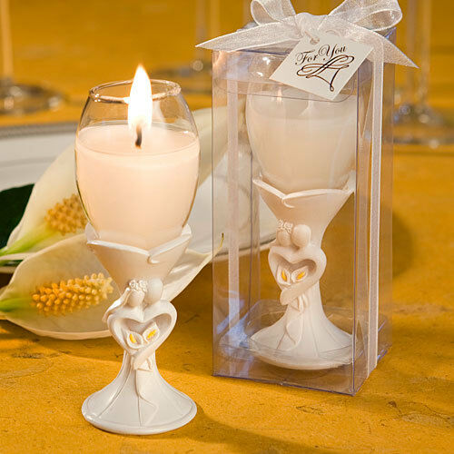 48 Bride and Groom Champagne Flute Candle Holders Bridal Shower Wedding Favors