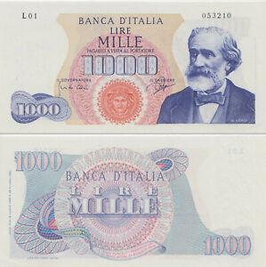 1962 Italia Banconota Lire 1000 Verdi  D.M. 14-07-1962 Fior Di Stampa