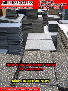 cheap second hand carpet tiles at a