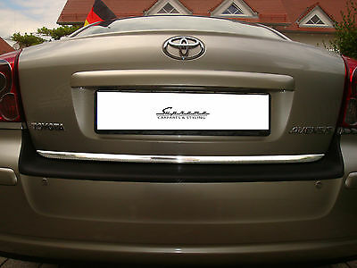 TOYOTA AVENSIS Notchback T25 Chrome Moulding 3M TUNING REAR TRUNK TRIM