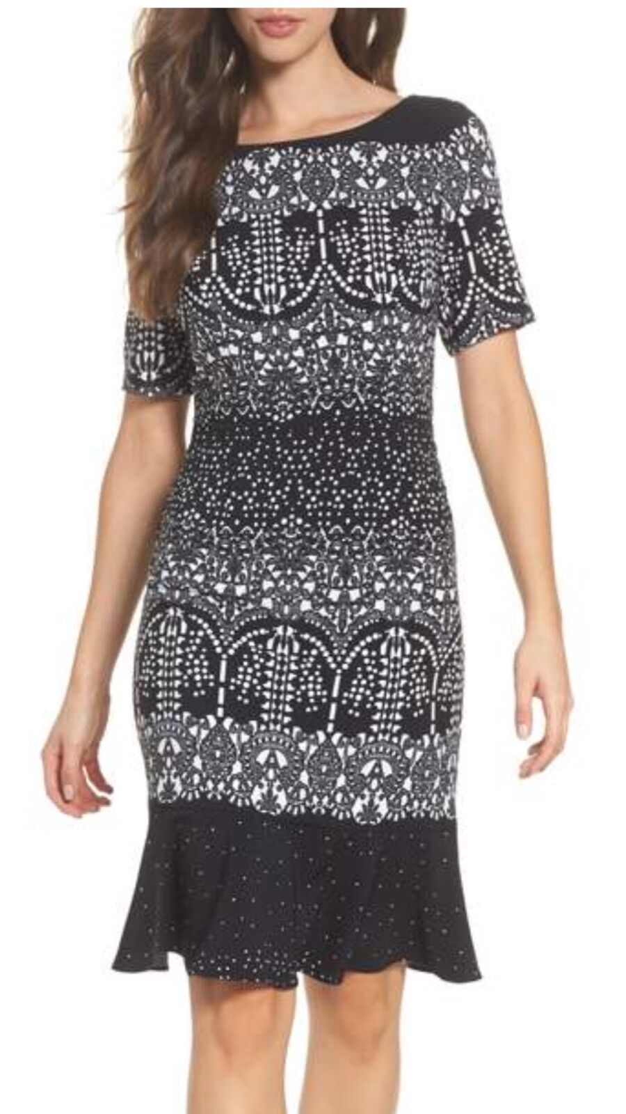 ADRIANNA PAPELL DRESS NEW WITH TAG SIZE 16 LENGTH 41' RETAIL LINED SMOKEFREE