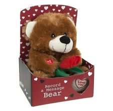 Record A Personal Love Message Teddy Bear Valentines Soft Plush Toy Gift Box 445