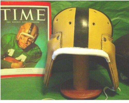 Latner Lujack Hornung 1940-50  Notre  Dame Leather Football Helmet