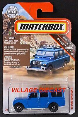 MOC 2019 Matchbox #64 /'65 Land Rover Gen II BLUE FULL LUGGAGE RACK