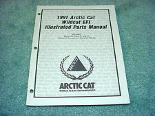 Arctic Cat 1991 Parts Manual Wildcat 650 EFI Snowmobile OEM #221