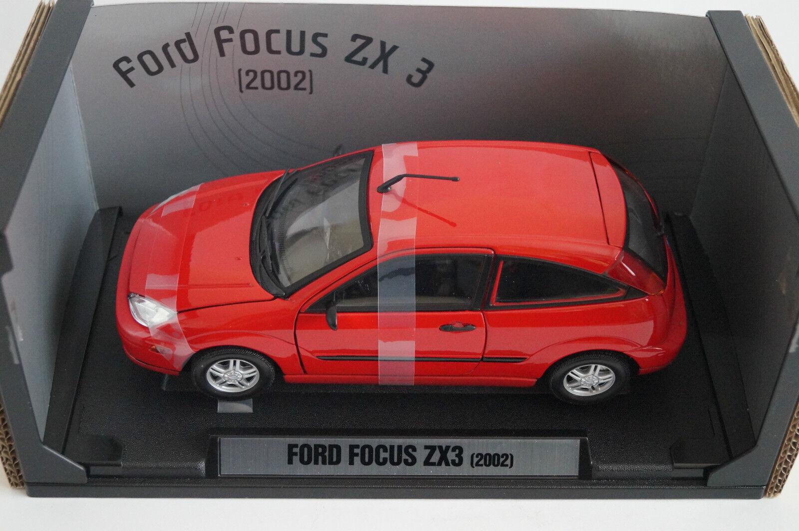 Motormax Modellauto 1 18 Ford Focus ZX 3 2002 in OVP    Bestellung willkommen