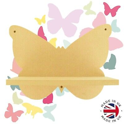 Audacious Routered 18mm Mdf Quality Flat Packed Wooden Shelf Sh28 Butterfly Shelf