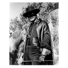 Guy Williams as Zorro Standing by Horse and Holding Sword 8 x 10 inch photo