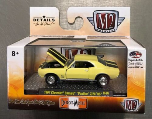M2 MACHINES YELLOW PAINT 1967 CHEVY CAMARO PANTHER Z//28 RS R46 FREE SHIPPING