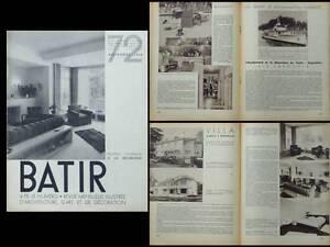 Batir N°72 1938 Decoration Rudenauer Govaerts Leborgne Baugniet, Yacht Varouni Et Aide à La Digestion