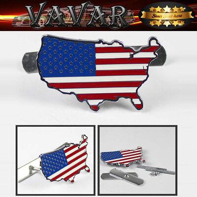 3D Metal Front Grille Grill Badge Emblem Decal Hood Car Flag USA United States