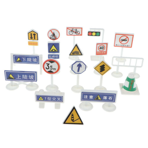 Street Road Sign Pretend Play Game Traffic Car /& Vehicle Playset Toy Educational