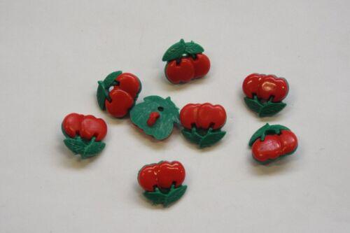 10pc 17mm vert et rouge cerise Cardigan tricot Kid bébé bouton forme 1061