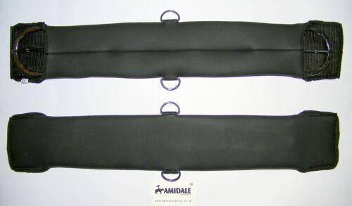 Western sangles cuir synthétique en noir couleurs disponibles dans toutes les tailles