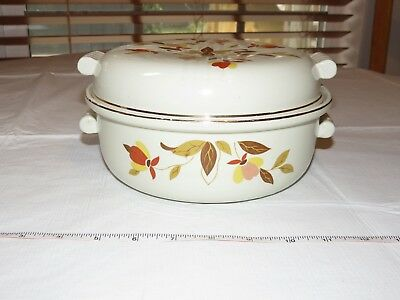 Vintage Hall's Superior Jewel Tea Autumn Leaf Covered Casserole Dish~