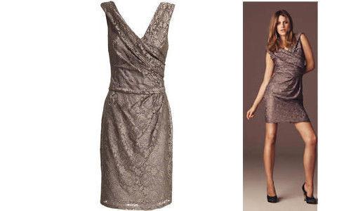 Reiss 'Lourdes' Lace dress size 12. Stunning RRP   (Deer Grey)
