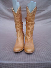Jessica Simpson Yellow Genuine Leather Women High Heel Boots 7,5