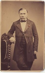 Gerschel Fratelli Strasburgo Ritratto CDV Vintage Albumina Ca 1860