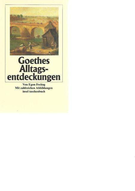 Goethe s  Alltagsentdeckungen Erstausgabe it 2550 Egonn Freitag Italien Europa