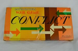 Vtg-Parker-Brothers-CONFLICT-War-Board-Game-Sim-Metal-Pieces-Pass-The-Time