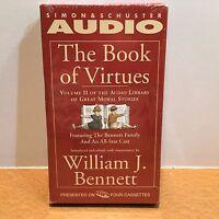The Book Of Virtues Volume Ii Audio Book 4 Cassettes William J. Bennett
