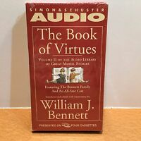 The Book Of Virtues Volume Ii Audio Book 4 Cassettes William J. Bennett