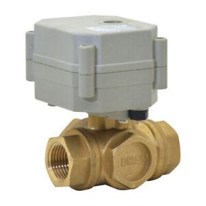 1-1//4/'/' Brass Electric Motorized Ball Valve AC110-230V,CR2-02 BSP//NPT 1//2/'/'