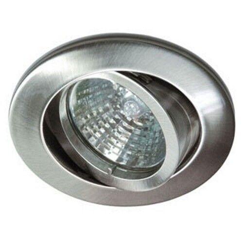 Einbaustrahler Deckeneinbau Strahler RUTEC alu 5537-5 Eisen gebürstet ohne Lampe