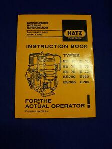 Fringant Original Hatz Diesel Instrucion Livre (anglais Langue) - Rareté Effet éVident
