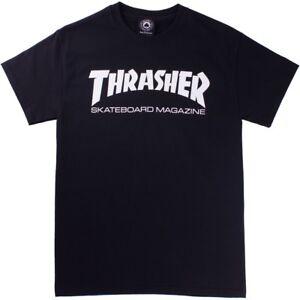 Thrasher SKATE MAG Black White Screenprint Logo Standard Fit S/S ...