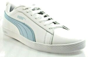 0508661d4279 PUMA SMASH V2 LEATHER WOMEN S WHITE BLUE SNEAKERS  365208-08