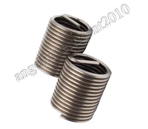 100pcs New M10*1.5 1.5D insert length 304 Stainless Steel Screw Thread insert